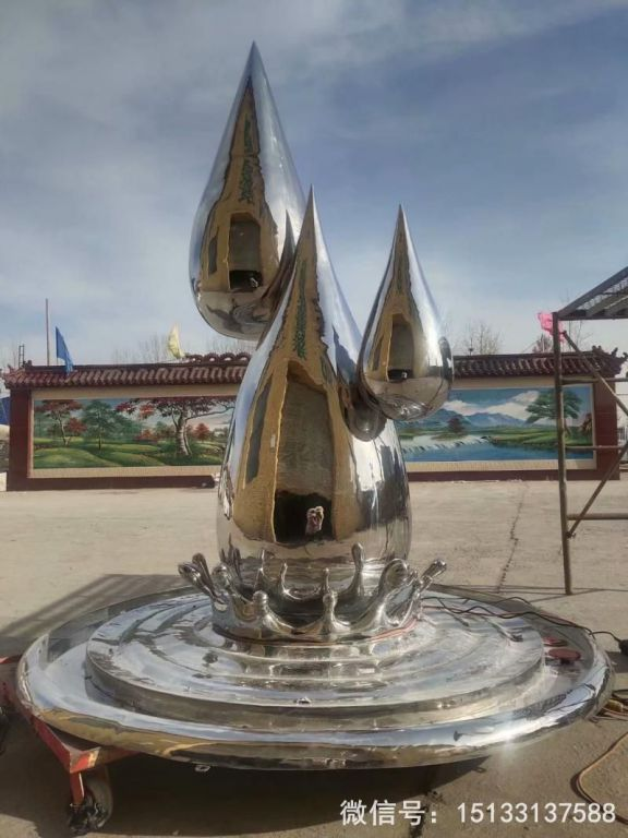 2米高不锈钢水滴镜面效果8