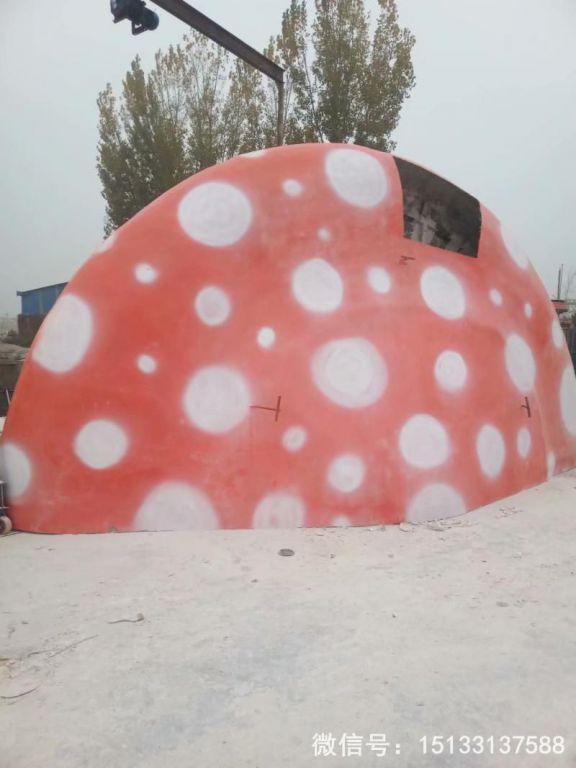 玻璃钢蘑菇顶雕塑 大型蘑菇顶可以做屋顶5